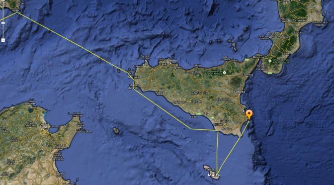 Après Malte, retour en Sicile; Nous voilà à Syracuse