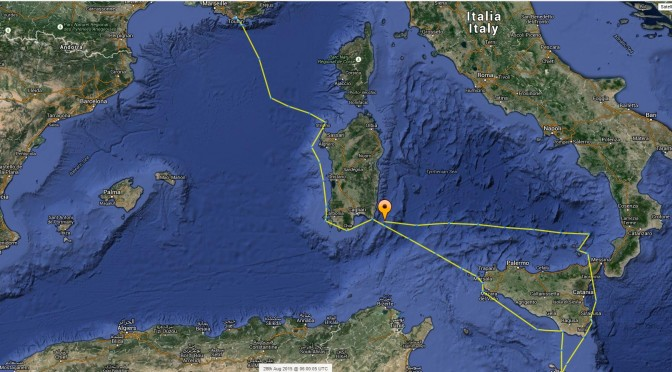 Kalisea bien arrivé en Sardaigne